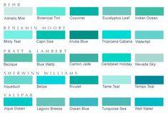 colour turquoise colour chart - Google Search