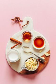 VEGAN White Hot Chocolate! 1 pot, 8 ingredients, naturally sweetened! #vegan #glutenfree #whitechocolate #dessert #plantbased #minimalistbaker