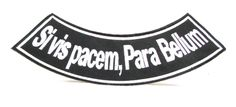 Sivis Pacem, Para Bellum Iron on Bottom Rocker Patch for Motorcycle Biker Vest or Jacket Back patches -- Awesome products selected by Anna Churchill