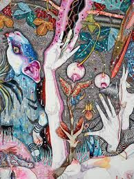 come of things, by Del Kathryn Barton :: The Collection :: Art Gallery NSW Art Beat, Australian Painting, Australian Artists, Del Kathryn Barton, Indigenous Art, Pastel, Fantastic Art, Whimsical Art, Pretty Art