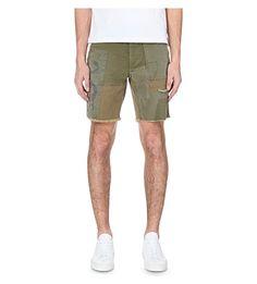 RALPH LAUREN - Straight-fit patchwork-style cargo shorts | Selfridges.com