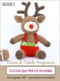banner renna di Natale amigurumi