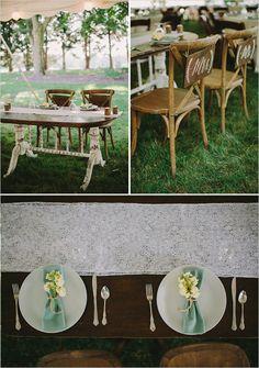 rustic lace sweetheart table #sweetheart @weddingchicks