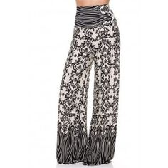 http://www.salediem.com/shop-by-size/xl-2xl-3xl/plus-size-printed-high-waist-palazzo-pants.html #salediem #fashion #women'sfashion #tblackandwhite #lplus