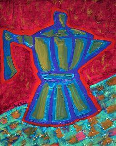 Coffee Pot  Painting  - Coffee Pot  Fine Art Print