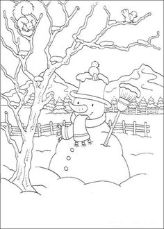 Click In the Backyard Coloring page for printable version
