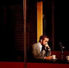 Ryan Gosling drinking hot bean water.