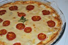 Quiche de pollo con queso parmesano y tomates cherry - Antojo en tu cocina