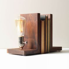 At First Light Bookends | dotandbo.com  This would be cool as a light in the kitchen or living room as a light used to keep from tripping over things in the night.