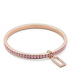 PAVE BANGLE in rose gold. I am not a gold person, I Love This!