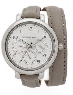 Wrap around grey watch