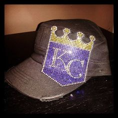 Rhinestone Kansas City Royals bling Cadet Cap by getrhinestoned, $25.00
