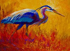 Animal Painting - Blue Heron by Marion Rose