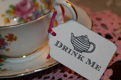 Alice in Wonderland Tea Party Drink Me Tags by GreenAcresCottage