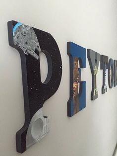 Hand Painted Star Wars Letters by CustomByKristi on Etsy