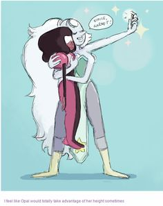 I feel Opal would have the biggest crush on Garnet. It would make sense because Pearl and Amythyst both really like to fuse with her.