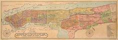 NYC vintage map, 1844.