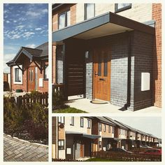 #ThrowbackThursday Kipling Avenue, 2014. #Housing scheme in #Knowley. Brick, integrated canopies and timber doors