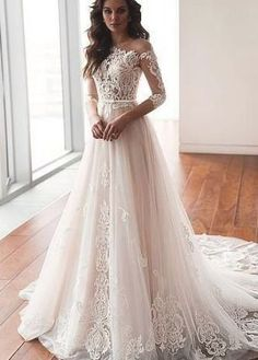 We+could+make+the+dresses+according+to+the+pictures+came+from+you,we+welcome+retail+and+wholesale. Click+to+see+more+styles+on+our+store:   brand+new+,column+,mermaid+or+A-line+st... Baby Fancy Dress, Cute Wedding Dress, Wedding Dress Trends, Modest Wedding Dresses, Wedding Girl, Gown Wedding, Dream Wedding, Tulle Wedding, Mermaid Wedding