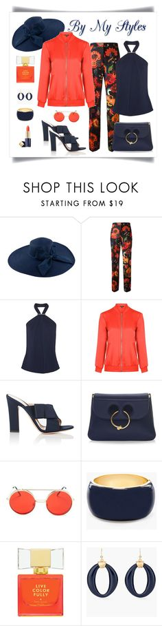 """""""Paul Smith Floral Print Trouser Look"""" by romaboots-1 ❤ liked on Polyvore featuring Paul Smith, Jason Wu, Topshop, Gianvito Rossi, J.W. Anderson, Forever 21, Chico's, Kate Spade and Estée Lauder"""