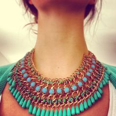 Green summer necklace ##9WSummerStyle