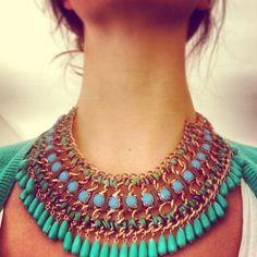 Green summer necklace #zara