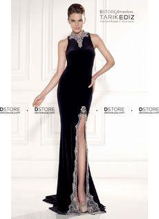 Vestido de Festa Longo Couture Halter com Pedrarias HILARY 92420