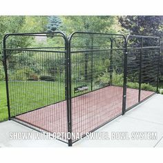 "Basic Welded Wire Steel Dog Kennel Size: 72"" H x 72"" W x 144"" L - http://www.thepuppy.org/basic-welded-wire-steel-dog-kennel-size-72-h-x-72-w-x-144-l/"