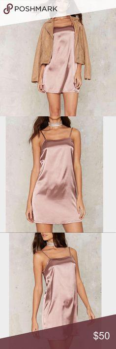 962🐰💛 nasty gal Lina satin slip dress Lilac satin slip dress , runs true to size , has adjustable straps Nasty Gal Dresses Mini