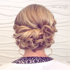 Low loose updo. Wedding hairstyle For more styles visit Instagram: @wb_upstyles