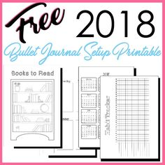 Free 2018 Bullet Journal Setup Printable PDF in A5 size