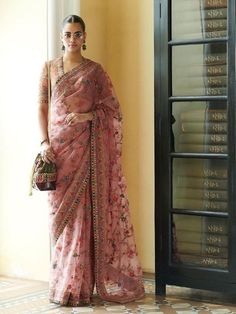 Sheer Sarees For Summer Wedding Season Are An Instant Hit! Sabyasachi Sarees, Bollywood Saree, Bollywood Fashion, Lehenga, Indian Attire, Indian Wear, Indian Outfits, Indian Clothes, Saree Designs Party Wear