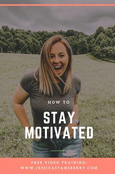 Do you struggle to stay motivated within your goals and what you should be doing? Well, today Im bringing you a few tips on how to stay motivated so you can CRUSH those goals.