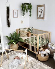 @sarahlouisefraser's tropical nursery | via lilah_and_co on instagram