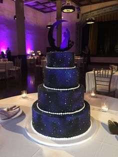 Quince Themes, Quince Decorations, Wedding Decorations, Galaxy Wedding, Purple Wedding, Dream Wedding, Themed Wedding Cakes, Themed Cakes, Beautiful Wedding Cakes