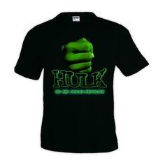 "Camiseta increible Hulk ""no me hagas enfadar""negra manga corta #camiseta #friki #moda #regalo"