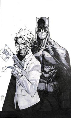 Batman and the Joker by Stephen Platt