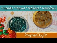 How to make your own polymer clay bezels with textured bottoms - YouTube