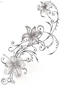 tattoo tattoo pinterest tattoo ideen blumenranken. Black Bedroom Furniture Sets. Home Design Ideas