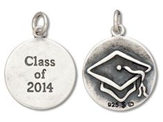 Sterling Silver Class of 2014 Graduation Charm. Item# CHSS-MS-CO-2014.