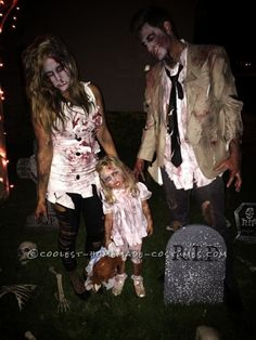 This year I wanted something scary for our family matching costume idea. One night I was watching the new season of the walking dead with my family, w...
