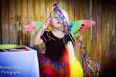 Rainbow Butterfly Party Kit for 8 complete with costume and place settings.  http://www.hensandchicksparties.com