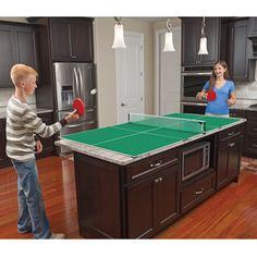 The Kitchen Table Tennis - Hammacher Schlemmer