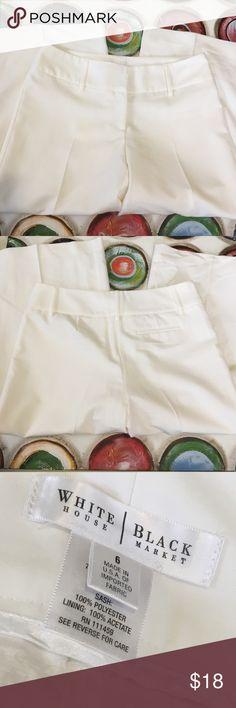 WHBM WHBM white lined capris, lining intact. White House Black Market Pants Capris