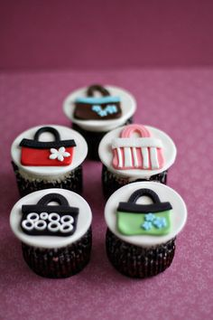 Purse Fondant Toppers for Cupcakes Brownies by parkersflourpatch