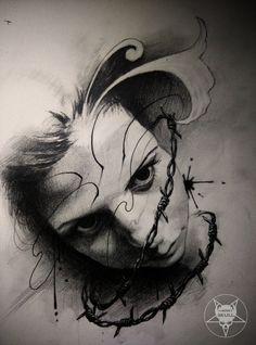 face by AndreySkull on DeviantArt