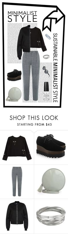 """""""Sustainable Minimalist Style"""" by sogoodsocute ❤ liked on Polyvore featuring Kowtow, STELLA McCARTNEY, People Tree, Ecoalf, Whistles and OPI"""