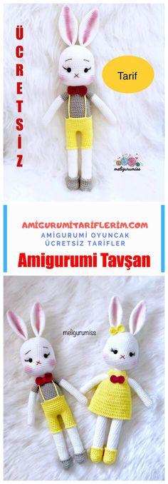 Amigurumi Sevimli Tavşan Yapımı - Amigurumi Tariflerim Crochet Hats, Sari, Knitting Hats, Saree, Saris, Sari Dress
