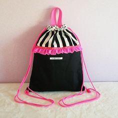 Drawstring Backpack, Backpacks, Stitch, Creema, Crafts, Bags, Dressmaking, Manualidades, Taschen