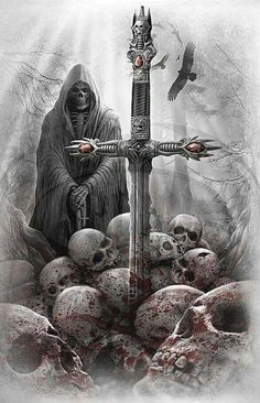 The reapers blade  Infuses wielder with the power to turn any living creature into an undead minion   In order to restore creature years of research and mastery are needed for swords history, hells influence on mind controlled slaves, and ? Spell.  Can only be done by magic caster-mage level.
